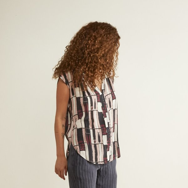 The Odells Tunic Top - Museo Stripe