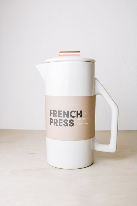 Yield French Press Ceramic - Cream