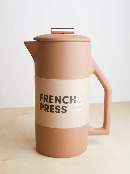 Yield Ceramic French Press - Sand