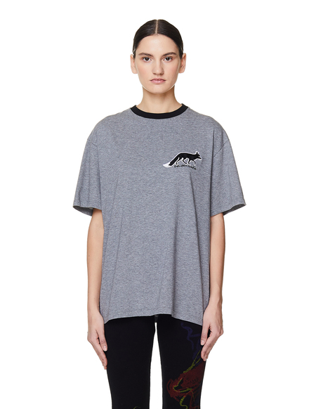 Golden Goose Cotton Fox Embroidered T-Shirt - Grey