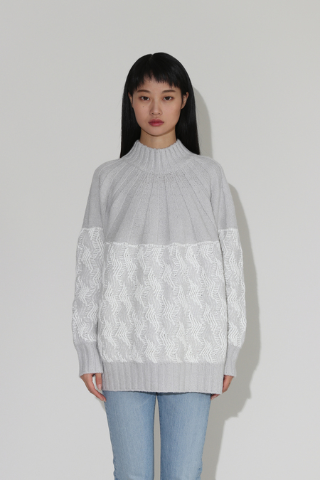 Rachel Comey Bowen Sweater - Grey Bolla Knit