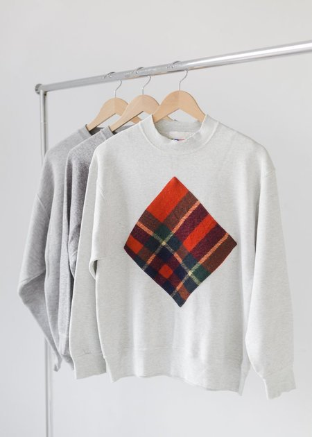 Carleen Stadium Blanket Patch Sweatshirt - Oak Heather
