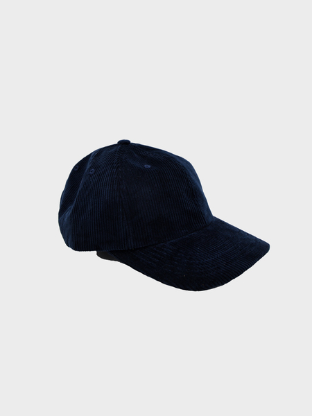 Norse Projects Wide Wale Cord Sport Cap - Ensign Blue