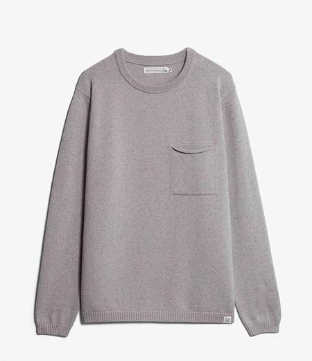 Merz B. Schwanen Good Basics Wool Pullover - Grey