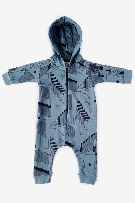 North Of West Steps Hooded Jumpsuit - Slate