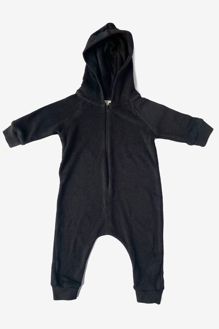 North Of West Terry Cloth Hooded Jumpsuit - Black