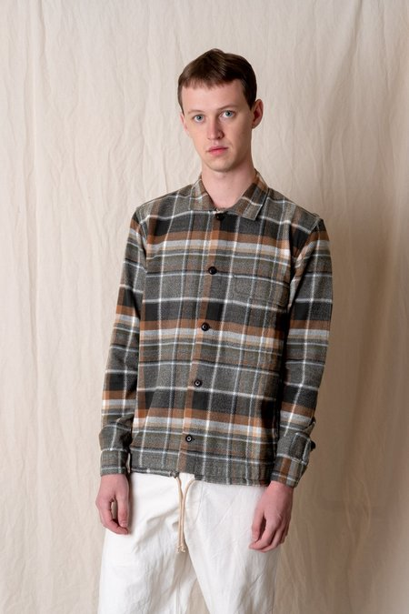 Corridor JACQUARD FLANNEL SERVICE SHIRT - OLIVE
