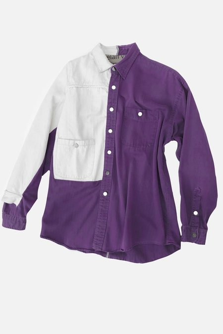 Elan Vital shirt jacket - purple
