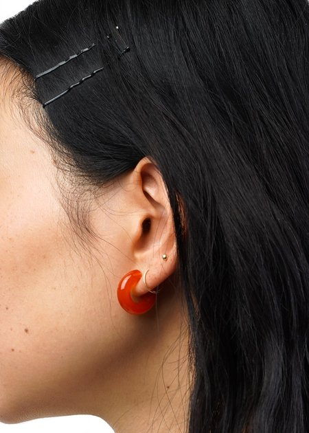 Wolf Circus Small Glass Hoops - Tangelo