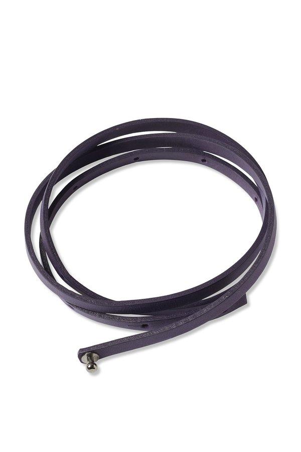 Oyuna Tibi Leather Travel Throw Belt - Amethyst