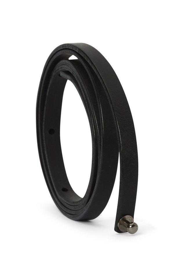 Oyuna Tibi Leather Travel Throw Belt - Black