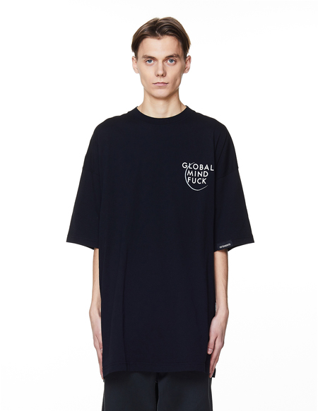 Vetements Printed Cotton T-Shirt - BLACK
