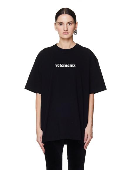 Vetements Cotton Logo T Shirt - BLACK
