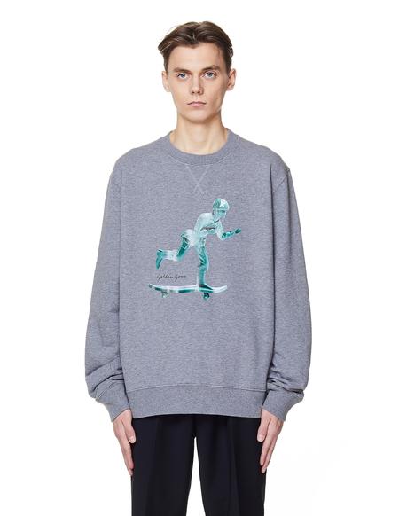Golden Goose Cotton Printed Sweatshirt - GREY