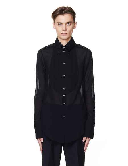 If Six Was Nine Cotton Shirt - BLACK