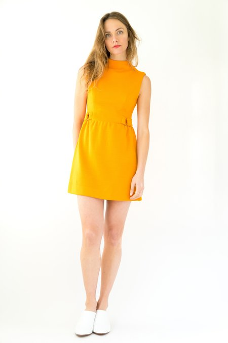Backtalk PDX Vintage 70s Mini Dress - Orange