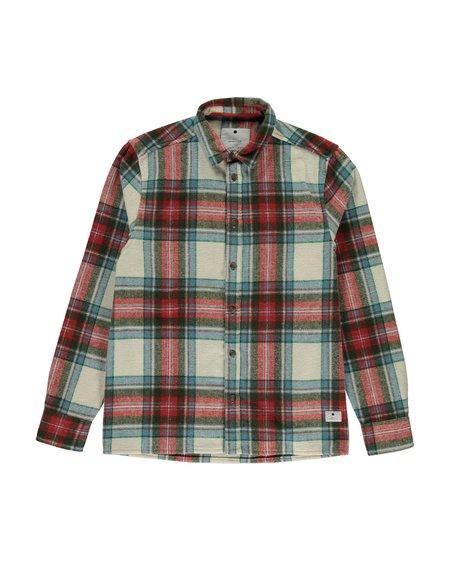 RVLT 3730 Flannel Shirt - Off White