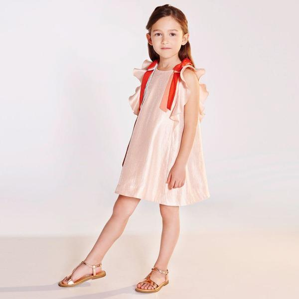 Kids Hucklebones Ribbon Flutter Dress