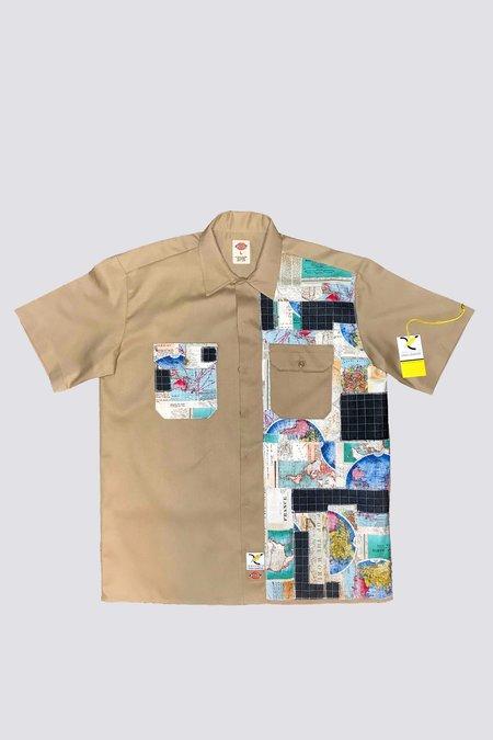 Axecents by Orah Lemaître Map Dickies Shirt - Khaki