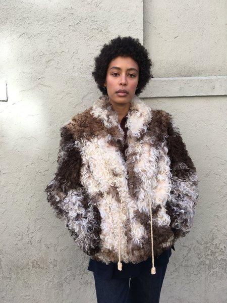 KC Vintage Alix Of Bohemia Mongolian Sheepskin Jacket