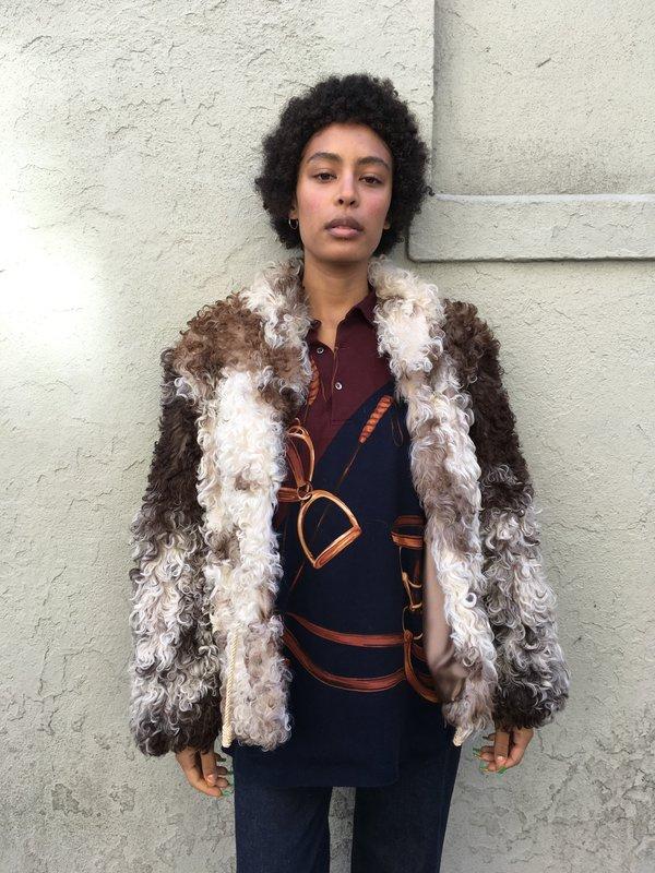 KC Vintage Mongolian Sheepskin Jacket