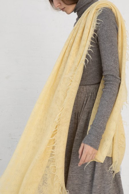 Lauren Manoogian Fringe Scarf - Maize