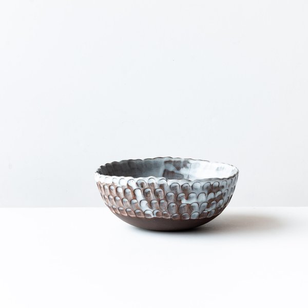 Marie Massin Stoneware Pinched Bowl