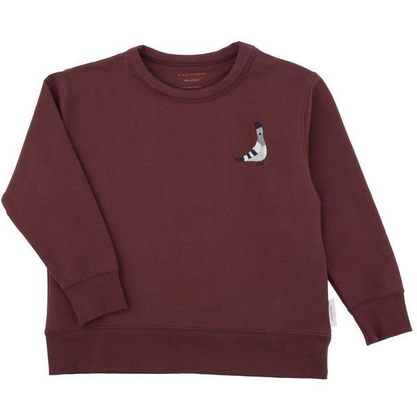 Kids Tinycottons Pigeon Graphic Sweatshirt - Plum