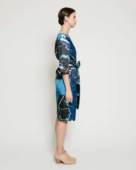 Gary Bigeni Harper Dress in Swiggle Print