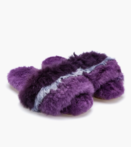 Ariana Bohling Alpaca Slipper - Three Stripe