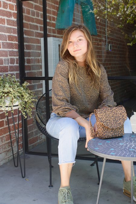 CAB Collection Blanche Shell Canteen Bag - Leopard Print