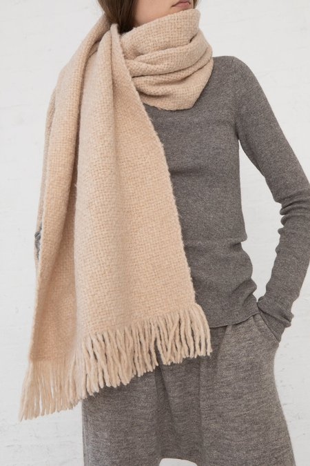 Lauren Manoogian Handwoven Brushed Wrap - Beige Melange