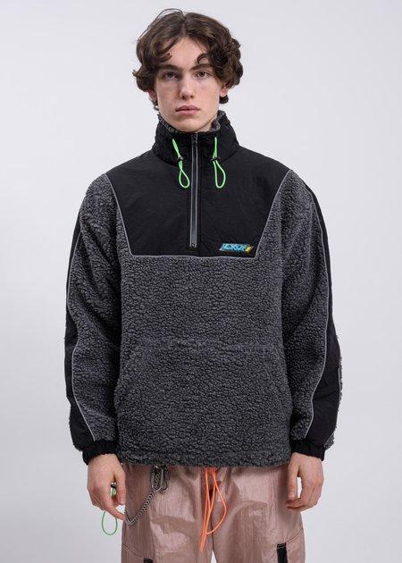 LXVI Piping Fleece Sweater - black
