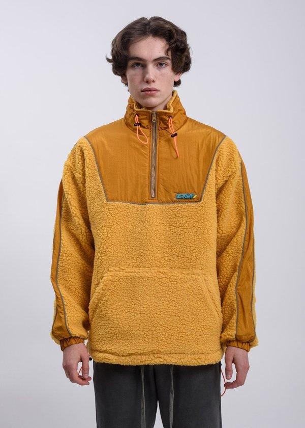 LXVI Piping Fleece Sweater - Yellow