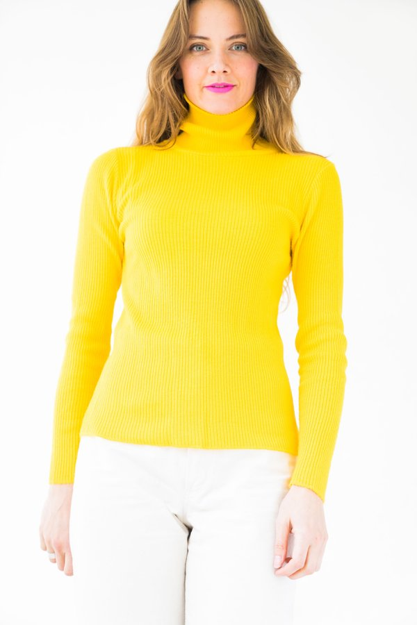 Backtalk PDX Vintage Turtleneck - Bright Yellow