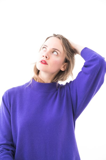 Backtalk PDX Vintage Turtleneck - Purple