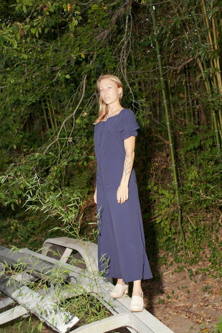CONRADO Clara Puff Sleeve Jumpsuit - Navy