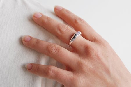 M. Hisae Risa Ring - Sterling Silver/Purple Chalcedony