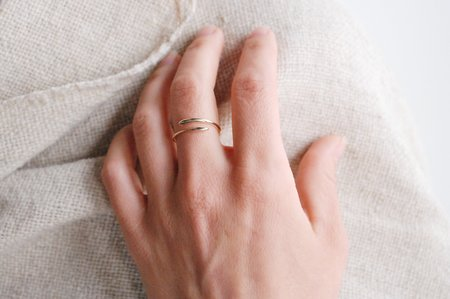 M. Hisae Silk Ring
