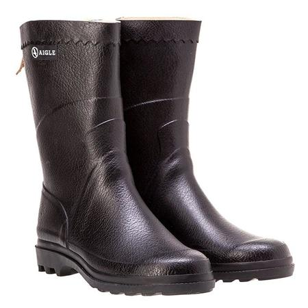 Aigle Bison Rubber Boots - Black