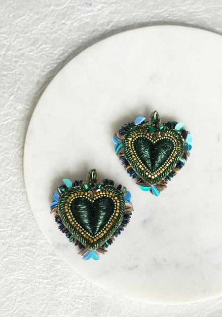 Olivia Dar Noto Earrings - Green