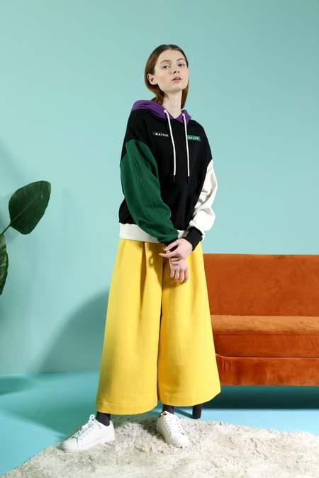 Matter Matters Wool Wide Leg Pants - Yellow
