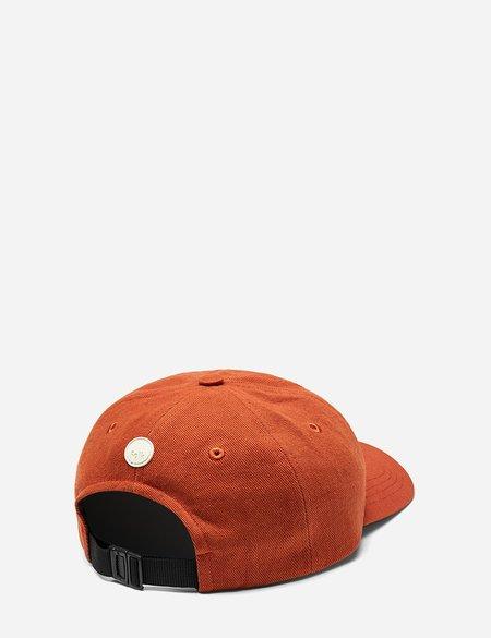 Folk 6-Panel Cotton Twill Cap - Cinnamon Orange