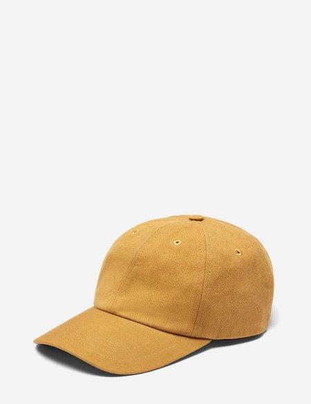 Folk 6-Panel Cotton Twill Cap - Dark Fawn Yellow