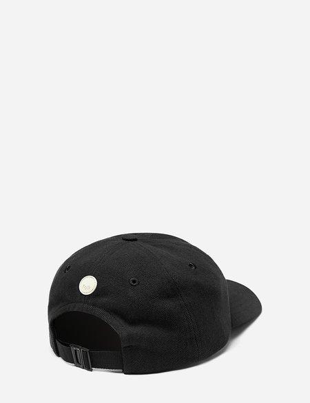 Folk 6-Panel Cotton Twill Cap - Soft Black