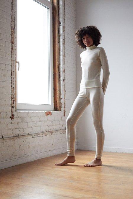 ARIELLE Pono Organic Merino Legging - NATURAL