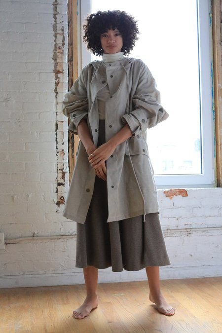 Unisex ARIELLE Ronin Beeswaxed Cotton Coat - stone