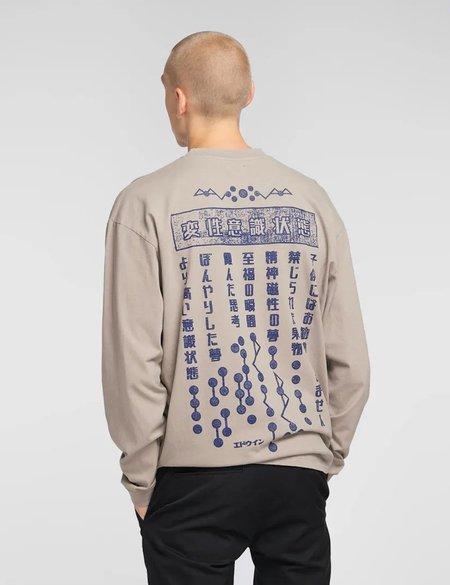 Edwin Hazy Dreams Motto Long Sleeve T-Shirt - Moon Rock