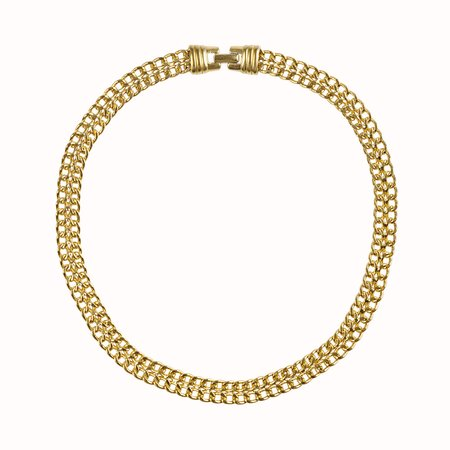 Vintage Diana Chain Collar - Gold