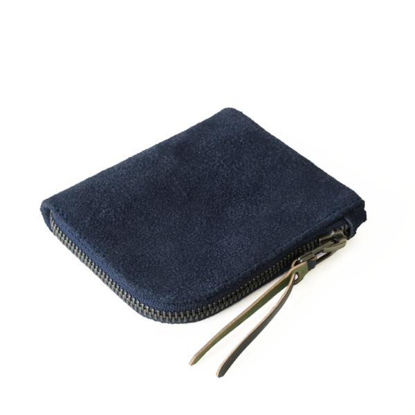 MAKR Zip Luxe Horween® Suede Wallet - Navy